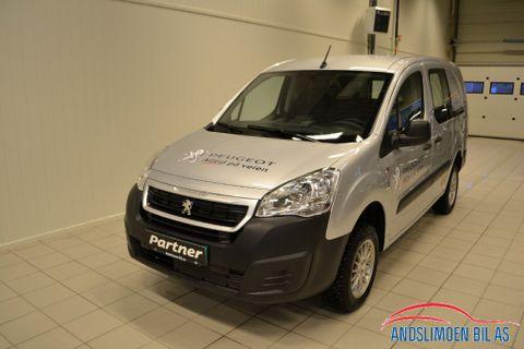 Peugeot Partner Mester 1,6 BlueHDi 100hk 4X4 L2  2017, 9500 km, kr 265000,-