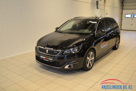 Peugeot 308 SW 1,6 BlueHDi 120hk GT Line aut , spar Kr: 70 000,  2017, 10200 km, kr 329000,-