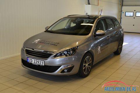 Peugeot 308 SW 1,2 PureTech 110hk Allure , Blue L.ine  2017, 15000 km, kr 249000,-