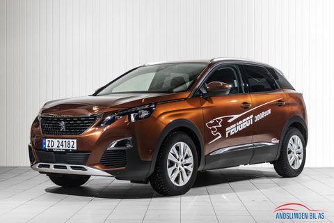 Peugeot 3008 Allure 1.5 BlueHDi 130 hk automat 8-trinn  2018, 7000 km, kr 429000,-