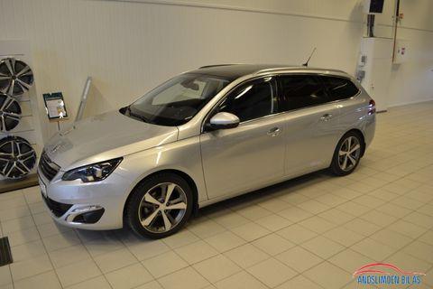 Peugeot 308 SW 1,2 PureTech 130hk Allure Navi, R-kamera, glasstak  2014, 58000 km, kr 174000,-