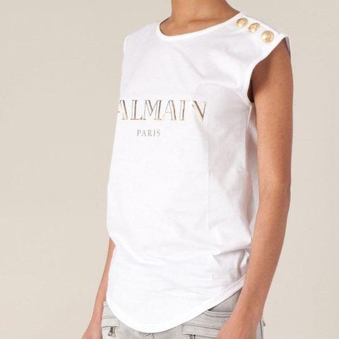 Balmain logo print t skjorte M – Ri'find