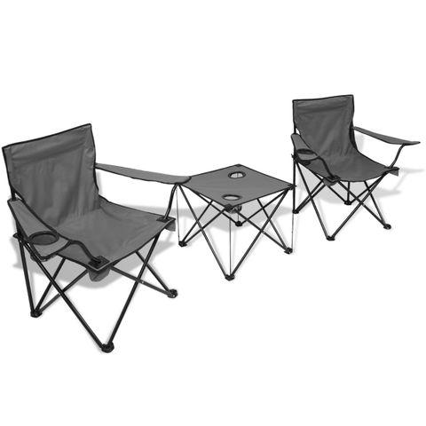Sammenleggbar campingstol og campingbord hentes innen 285