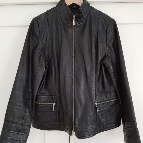 Behagelig, ny, myk Veto jakke i ekte skinn str 50 | FINN.no