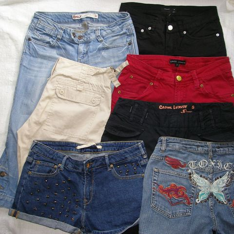 a50f1219 Shorts/capri til dame str S/XS (34-38) 40-90/stk