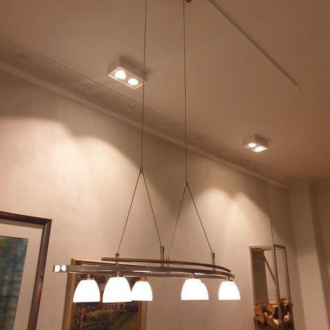 Oppdatert LAMPE - TAKLAMPE - ELBA - 5 LYS - MATT KROM KAMPANJE | FINN.no OR-54