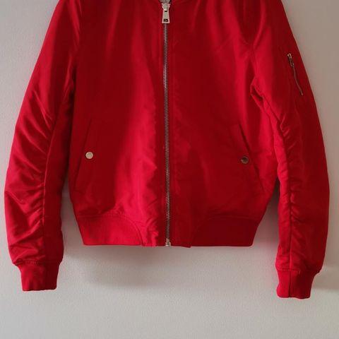 NY Rød bomber jakke 4e90359694