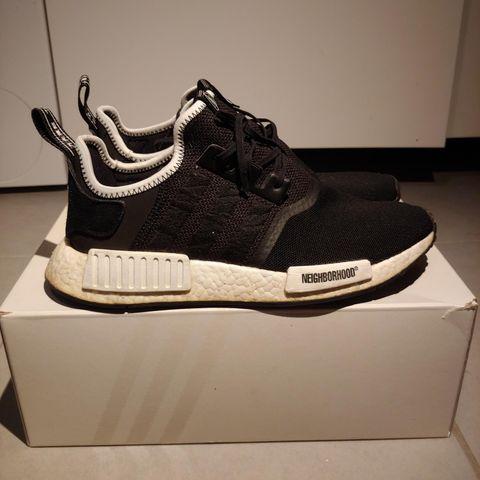 Discount Adidas NMD R1 x Neighborhood x Invincible Black
