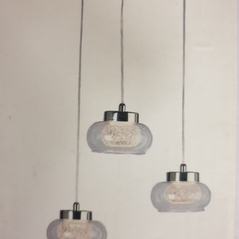 Spennende LED flaske lampe 6 flasker dimbar | FINN.no