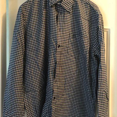 7bbfb1a3 Jean Paul blå mønstret skjorte str L
