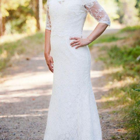75ce668d Prinsesse gown brudekjole med underskjørt og evt sko. Brudekjole, bolero,  brudesko selges