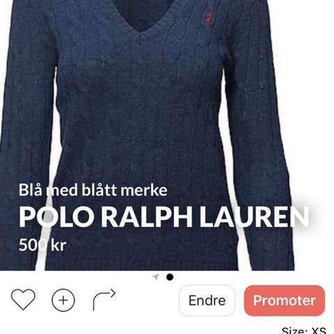f9521625 PEUTEREY Lekker Klassisk Kåpe   FINN.no