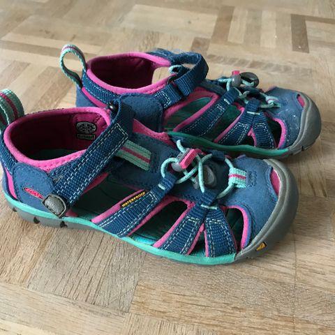 16f31a34 Keen Seacamp II Cnx, str 30 hybridsandal barn, Blå/rosa