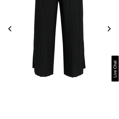 33a7e941 Dagmar sort Ninni bukse med vide ben