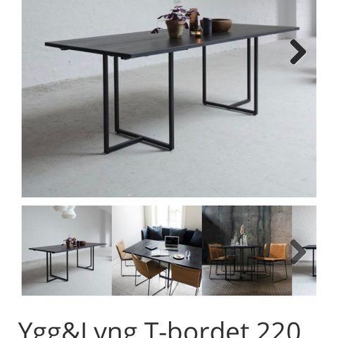 HAY CPH0120 spisebord grå bordplate og ben i sortbeiset