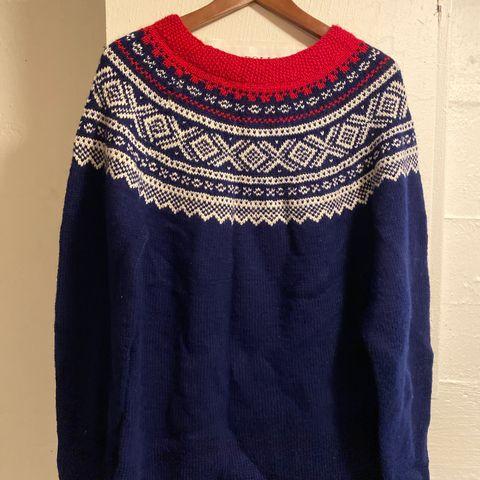 Cortina genser strikket i alpakka, dame str sm | FINN.no