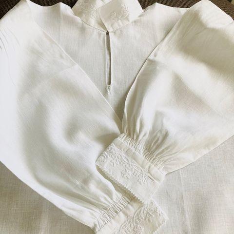 Nordlandsbunad skjorte i lin selges | FINN.no