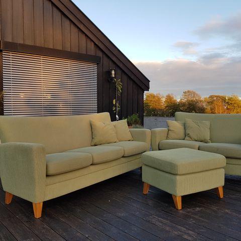 Skalma sofa gruppe med stol og puff | FINN.no