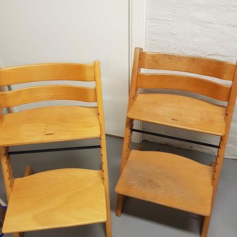 Tripp Trapp stoler selges. Pris PR stk. | FINN.no