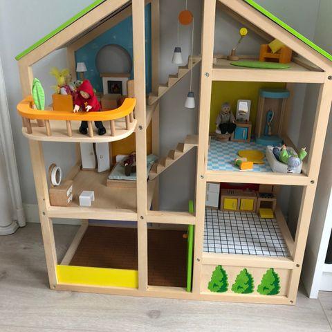 lekekjøkken woodli og stellebord til dukke | FINN.no
