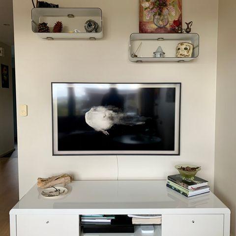 HVIT Ikea Bestå TVMedia benk mUppleva, vippe dørerskuffer