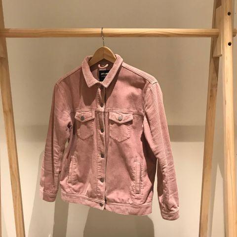 Teddyjakke rosa kordfløyel aldri brukt | FINN.no