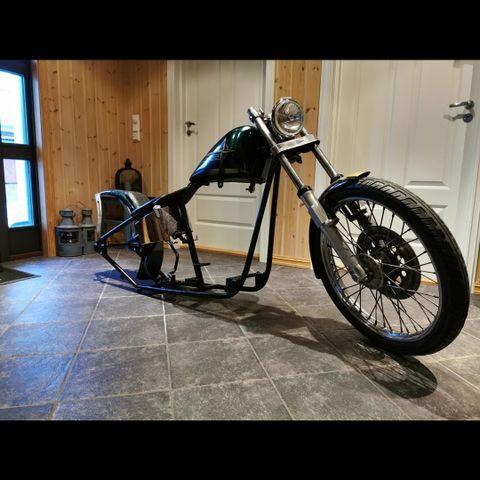 Lær Motorsykkel Front Gaffel Verktøy Veske For Harley Softail Sportster Dyna Brown