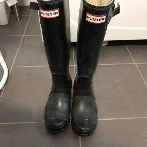 Hunter Støvler 37 mto par sokker