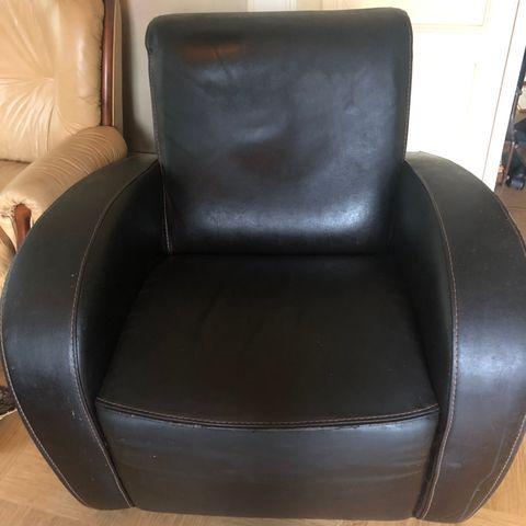 Solid, gammel stålrørstoldiner stol, nyomtrukket | FINN.no