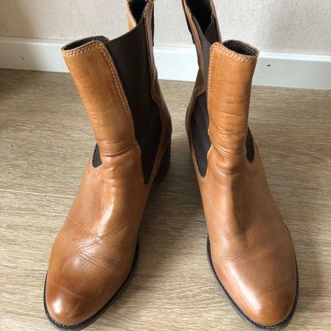 Brune ankelhøye støvletter | FINN.no
