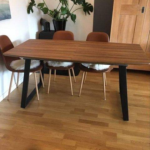 Nordic Curve Spisebord og 4 stk. Nordic Basic Classic