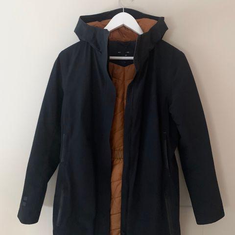 Trailwear by Penfield dun jakke med lær detaljer str.XL(ca