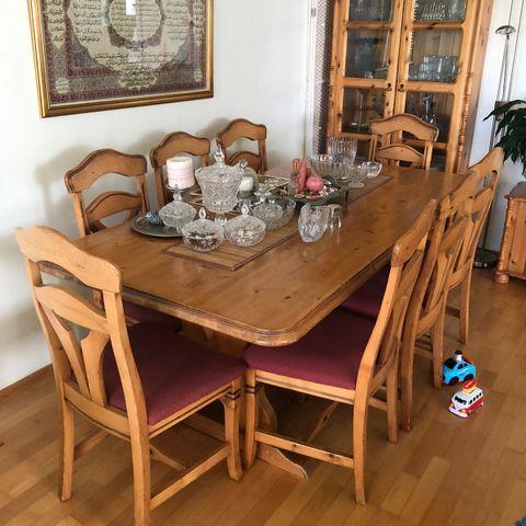 6 stk rotting stoler og Bombay spisebord. | FINN.no