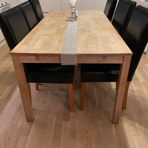 Cornwall spisebord med uttrekk og 6 stoler | FINN.no