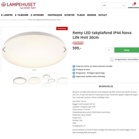4 stk. LED lamper til innfelling. 80 % RABATT. (Kun kr. 150