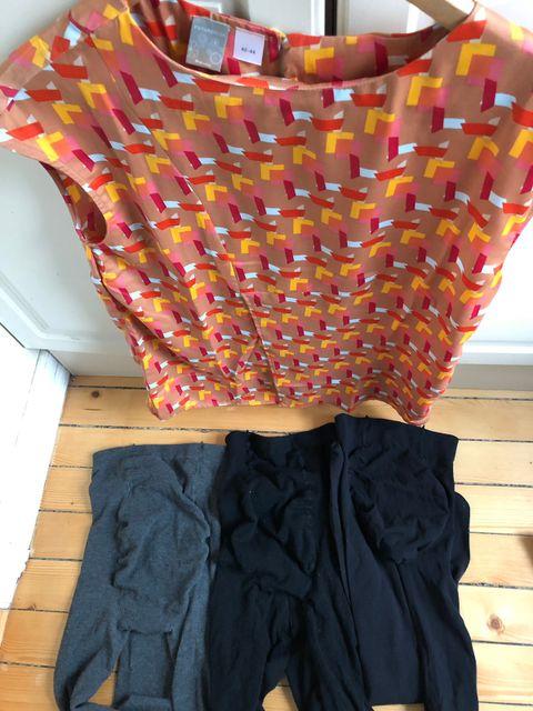 6ad2ad1e Gravidklær str. M, 3 strømpebukser, 1 topp