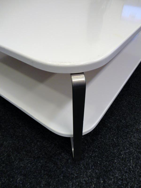Ikea Imfors sofabord (100x100 cm, Hvit) MIDLERTIDIG