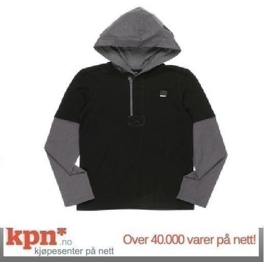 9cdf6acc Bench Gear langermet T-skjorte med hette, svart/grå | FINN.no