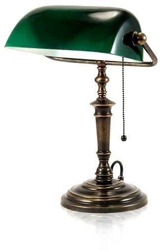 Kjempebra Amerika lampe / Advokat lampe /grønn Lampe | FINN.no TS-44