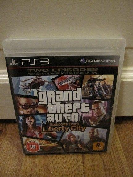 GTA Liberty City - Stjørdal  - Spill for Playstation 3 : GTA= grand Theft auto, episodes from Liberty City kr 60,-  Send forespørsel helst på SMS - Stjørdal
