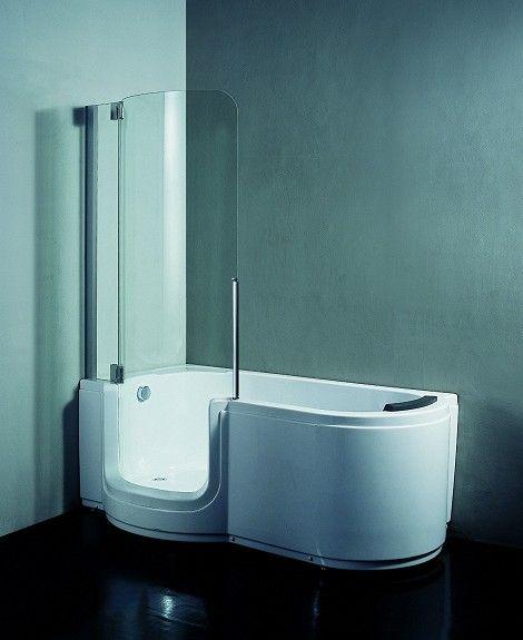 badekar og dusj i ett Polar Walk in stilrent badekar/dusjkabinett selges rimelig  badekar og dusj i ett