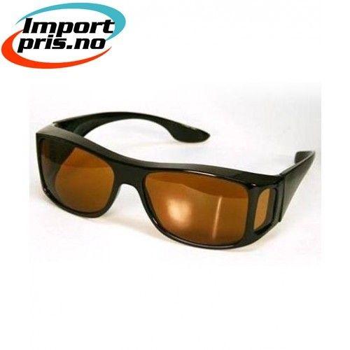 Wrap around solbriller passer over alle vanlige briller