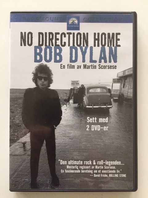 Bob Dylan - No Direction Home (2 disker), norsk tekst - Bekkestua  - Bob Dylan - No Direction Home (dobbeldisk), sjelden norsk utgave.