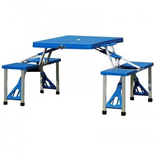 LAGERTØMMING Sammenleggbart campingbord med stoler | FINN.no