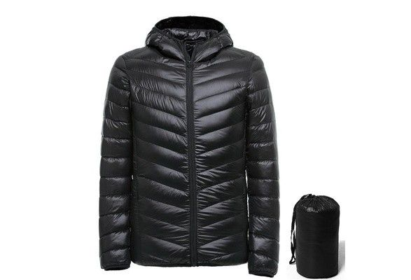 Men 90% White Duck Down Jacket - Gjettum  - Men 90% White Duck Down Jacket black - Gjettum