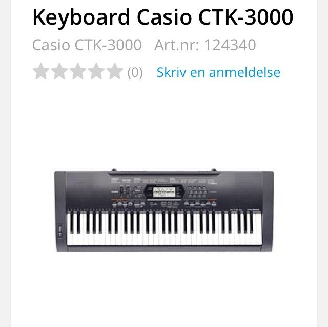 Keyboard Casio CTK 3000 - Kongsberg  - Keyboard Casio CTK-3000 selges.  Det følger med gulv stativ.  Må hentes!! - Kongsberg