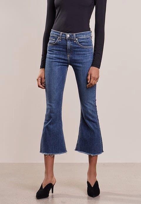 Rag & Bone Flared Jeans - Krokstadelva  - Ny Rag & Bone Flared Jeans Blue Denim str. 24. Stor i størrelsen så den tilsvarer en str. 25. Ny pris: 2.000,- Kjøper betaler frakt. - Krokstadelva