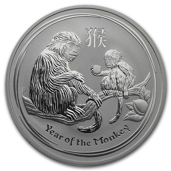 2016, 1oz Lunar II, Year of the Monkey - Krokkleiva  - 2016, Australia, 1oz, 999 sølv. BU mynt i kapsel. Selges kr 225,- + porto, (skam-bud er unødvendig).  Vennligst ikke ring, send sms, pga sykdom. - Krokkleiva