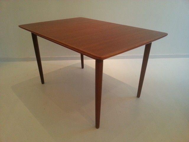 Retro/vintage Spisebord i teak tegnet av Alf Aarseth for Rastad og ...