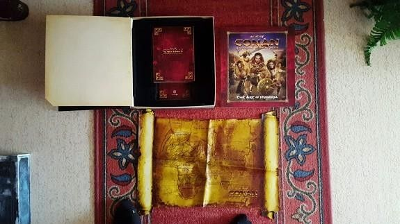 Age of conan collectors edition - Halden  - Age of Conan Hyborian Adventures COLLECTORS EDITION Alt følger med samt spillet! SAMLEOBJEKT! - Halden